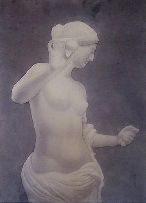 by Yulia Dotsenko,Venus of Arles,2009. Wash drawing.