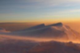 Sunrise, mountains. Photo of Mt Olympus by artist Yulia Dotsenko.