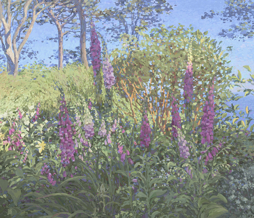 Garden with Foxgloves