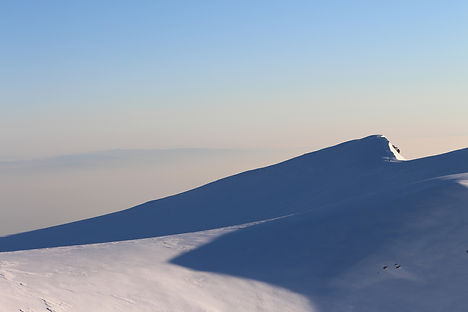 Snow, Mountains. by Yulia Dotsenko.