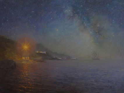 Yulia Dotsenko, A Ship of the Milky Way, 2009. Pastels on paper, 65 x 50 cm (25.5 x 19.6 in).
