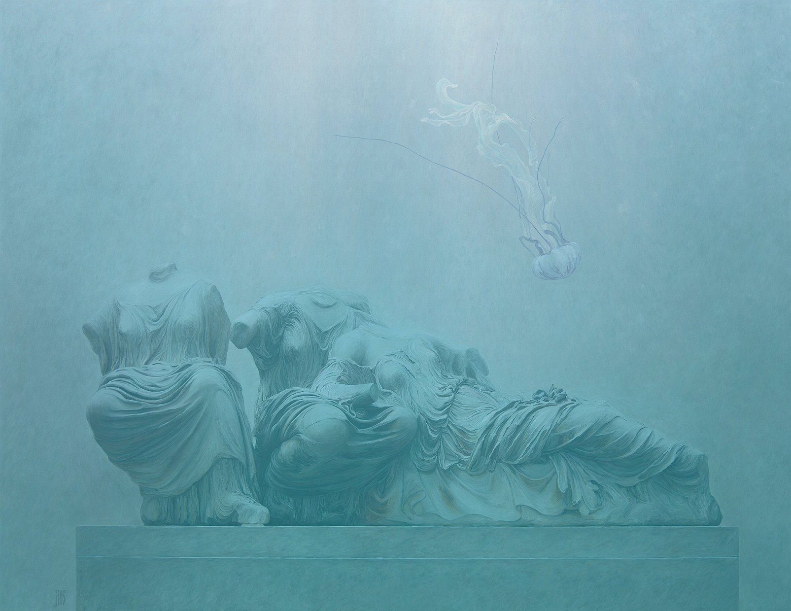 Goddesses of the Parthenon in the Age of Climate Change (Sunken Cities 2100)