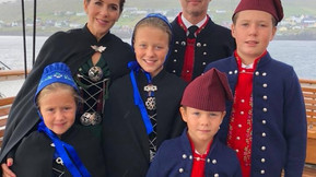 The Danish Crown Prince and his family