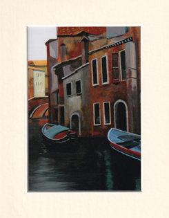 Rio Del Sartori, Venice - print of painting
