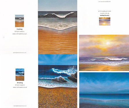 4 seascape greeting cards