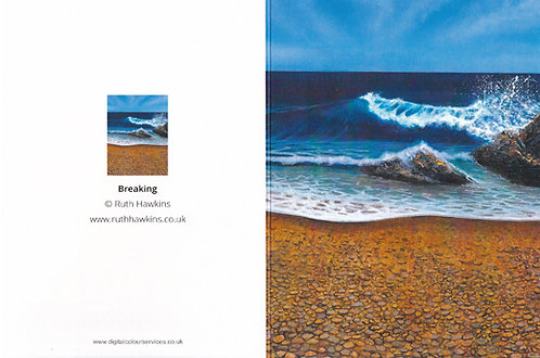 A6 seascape greeting card