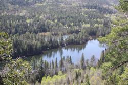 Vue aérienne Troisième Lac Castor