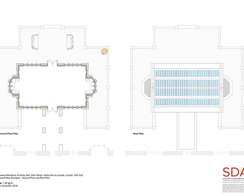 Orangery Floor and Roof Plans - 15 Novem
