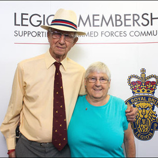 Membership meet up at RBL. Chris Blick with Mary Acland.