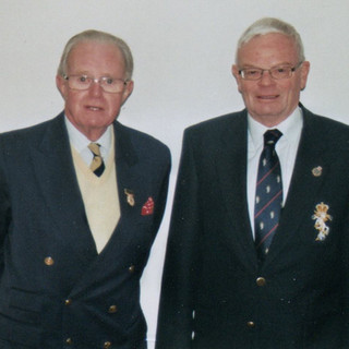 Branch President welcomes our new Branch Secretary. (L) Brigadier Christopher Price CBE, Branch Chairman and (R) Michael Compton Secretary
