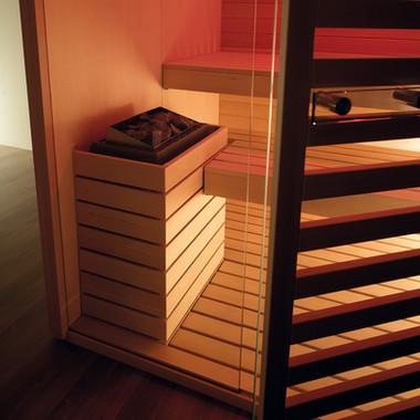 Sauna-SKY-TECHNO-dettaglio-stufa-cromote