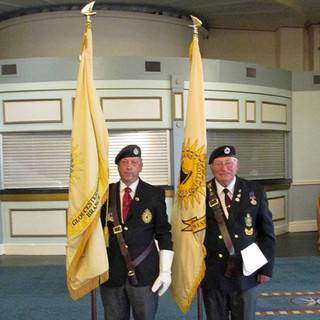 Gloucestershire Branch and West Dorset Branch Standards at the National Reunion and AGM.