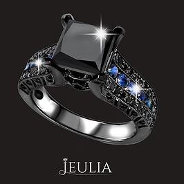 jeulia coupon code - black diamond ring