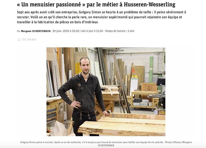 Menuiserie Simon article