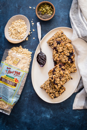 Baked Oatmeal Bars with Almond Butter an