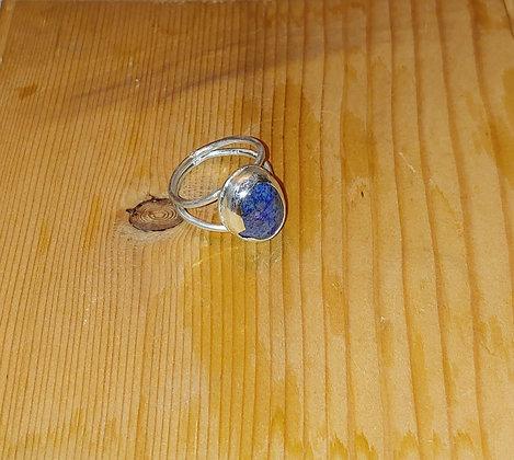 Lapis Lazuli Double Band Ring