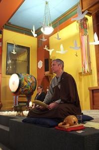 Kohye Giving a Dharma Talkk