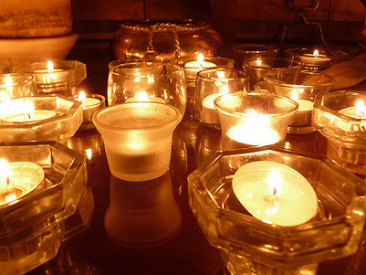 Candlelights Wishing Peace for the World