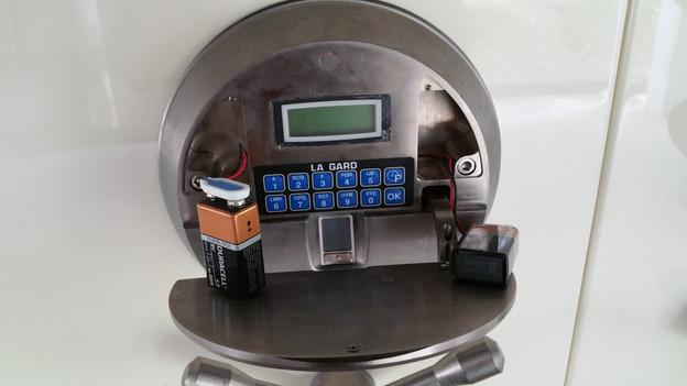 High Tech Biometric Lock Opening
