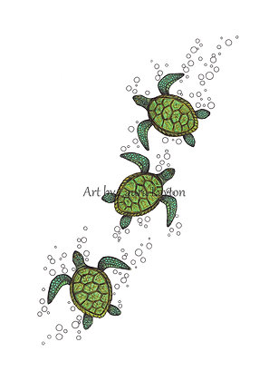 Baby Turtles - Art Print