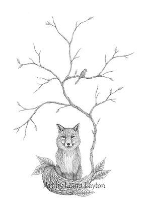 Autumn Fox - Art Print