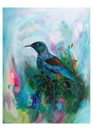 Colourful Tui - Art Print