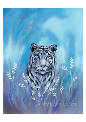 Big Cat #2 - White Tiger - Art Print