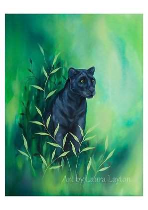 Big Cat #3 - Panther - Art Print