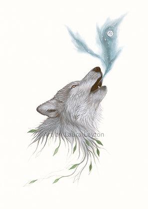 Howling Wolf - Art Print