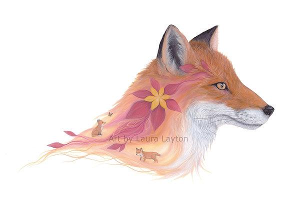Mother Fox - Art Print