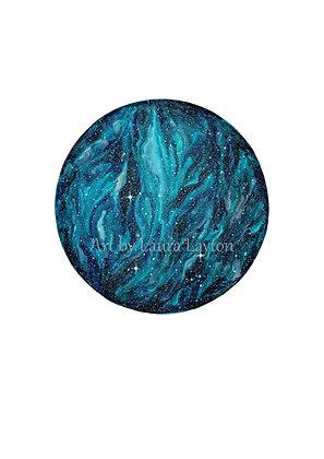 Blue Galaxy - Art Print
