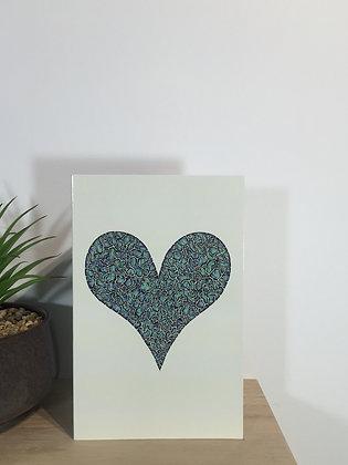 Paua Heart Card