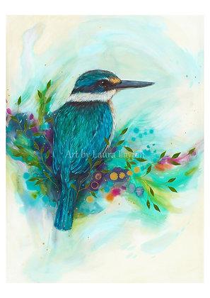 Colourful Kingfisher - Art Print