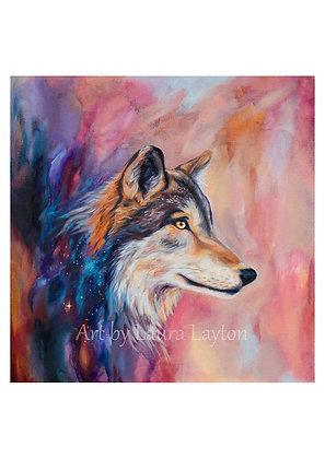 Wolf & Galaxy - Art Print