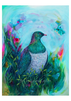 Colourful Kereru - Art Print