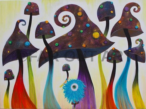 Mushroom King Poster