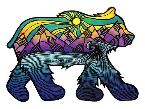 Wanderlust Bear Sticker