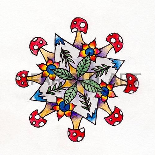 Nature Kaleidoscope Sticker
