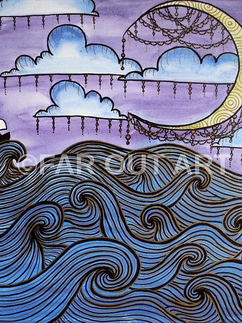 Night Sail Poster