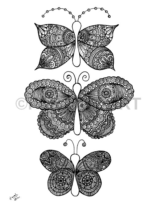 Intricate Butterflies