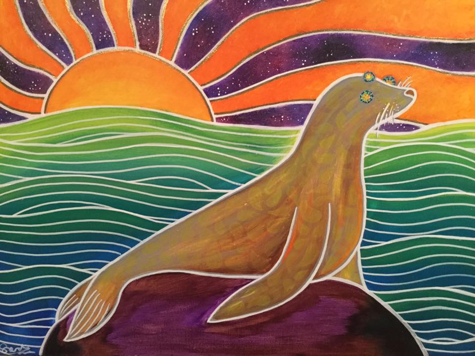 Psychedelic Sea Lion