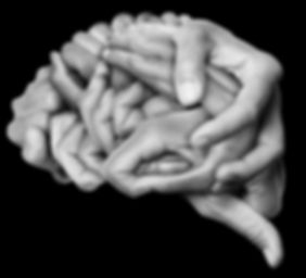 A human brain made __with hands, differe
