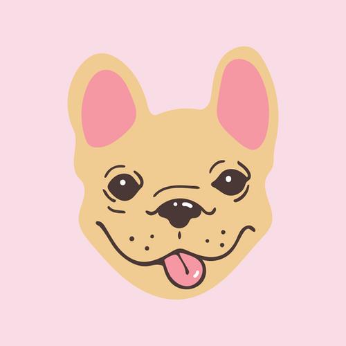 french bulldog pink square.png