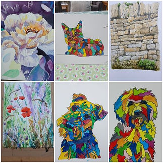 Colourful Cat Dog and Wall Collages