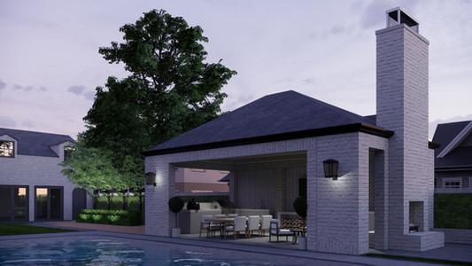 Brick Pool House