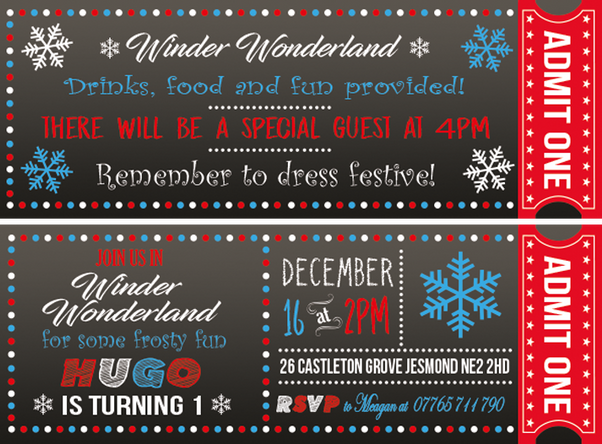 Winder Wonderland Invites