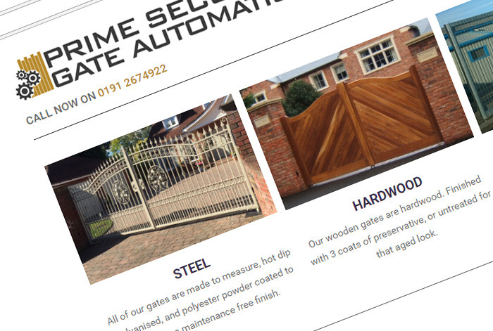 Prime Security Gate Automation Website
