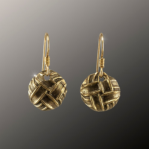 Bronze Sailor's Knot Earrings