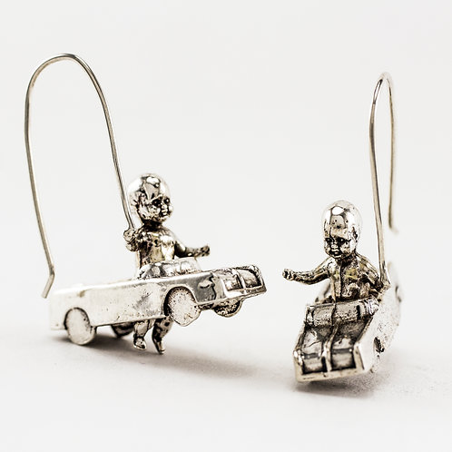 "Whoa Baby ""Sunday Drive"" Earrings - Sterling Silver"