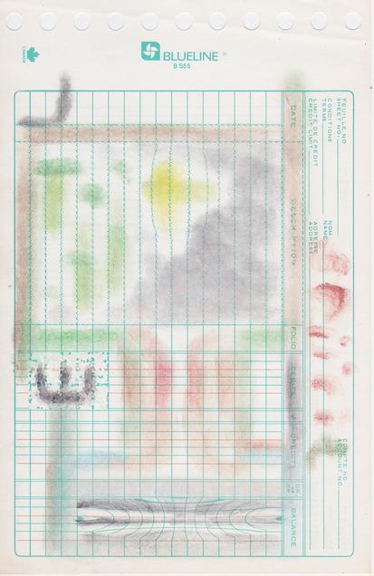 Polycrayon on Blueline Ledger Paper, 2019